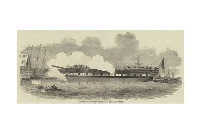 Launch of a 14-Year First Class Ship, at Dundee--Giclee Print