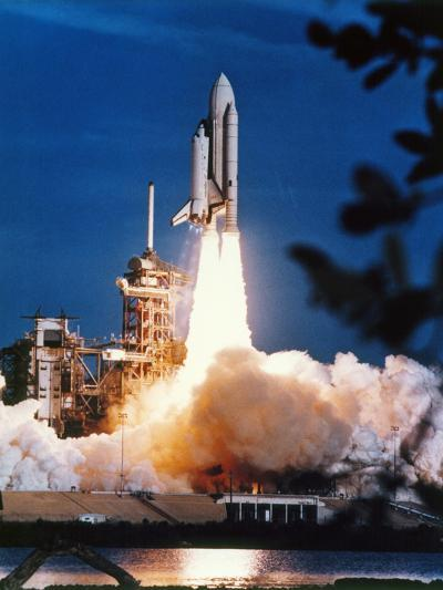 Launch of Columbia, the First Space Shuttle.--Photographic Print