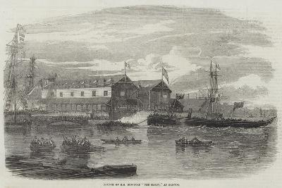 Launch of Hm Gun-Boat The Hardy, at Bristol--Giclee Print