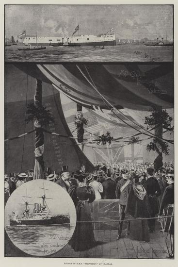 Launch of HMS Victorious at Chatham-Joseph Holland Tringham-Giclee Print