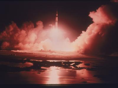 Launch of the Apollo 17 Mission, 1972--Photographic Print
