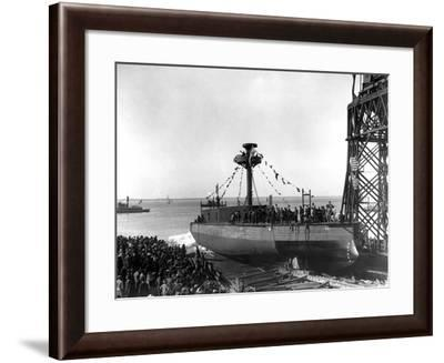 Launch of the Arkansas--Framed Photographic Print