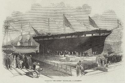 Launch of The Contest Clipper-Ship, at Androssan--Giclee Print