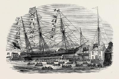Launch of The Cowes--Giclee Print