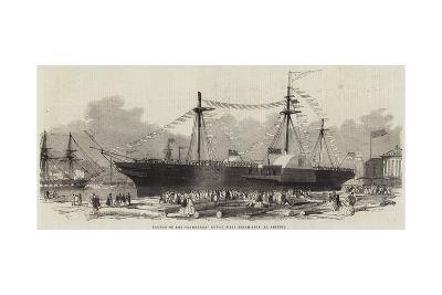 Launch of the Demerara Royal Mail Steam-Ship, at Bristol--Giclee Print