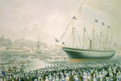 """""""Launch of the Great Britain Steam Ship at Bristol, July 9th 1843"""", C.1843--Giclee Print"""