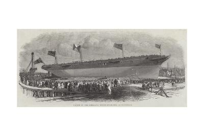 Launch of The Himalaya Screw Steam-Ship, at Blackwall-Edwin Weedon-Giclee Print