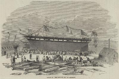 Launch of The Napoleon III, at Ardrossan--Giclee Print