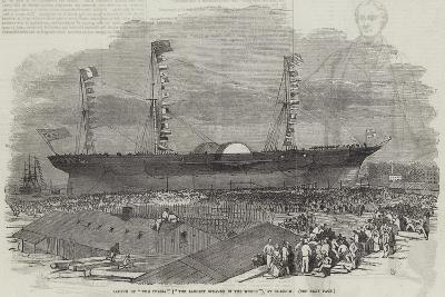 Launch of The Persia (The Largest Steamer in the World), at Glasgow--Giclee Print
