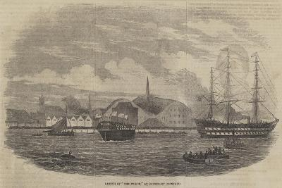 Launch of The Phoebe, at Devonport Dockyard--Giclee Print