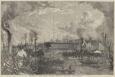 Launch of The Royal Albert Sketched from the River--Giclee Print