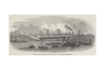 Launch of the Screw Collier The John Bowes, at Jarrow--Giclee Print