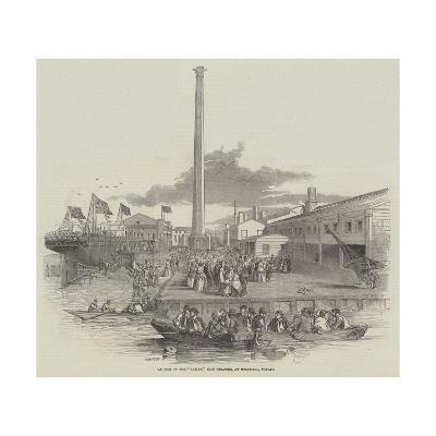 Launch of the Taman, Iron Steamer, at Millwall, Poplar--Giclee Print