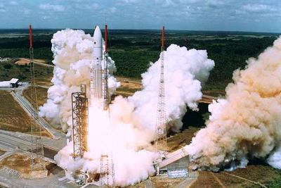 Launching of Of the Second Ariane-5, Kourou, French Guiana on 30 October 1997--Photo