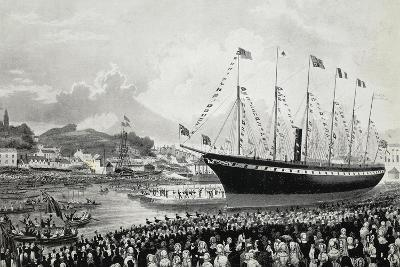 Launching of Ss Great Britain in Bristol, July 19, 1843, United Kingdom, 19th Century--Giclee Print
