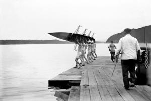Launching Rowing Scull