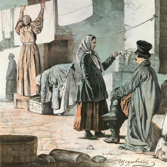 Laundresses, 1846-Ignati Shchedrovsky-Giclee Print