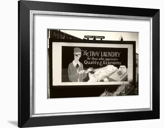 Laundry Billboard--Framed Art Print