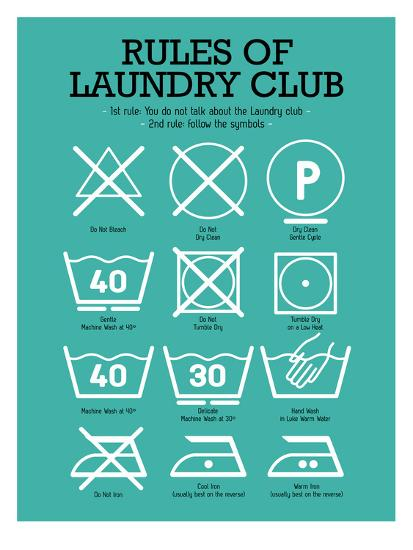 Laundry Club Teal-Patricia Pino-Art Print