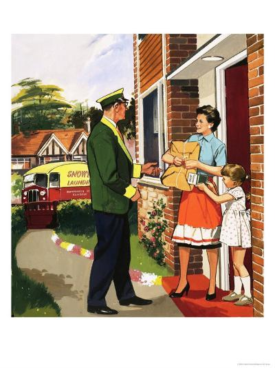 Laundry Delivery Service--Giclee Print