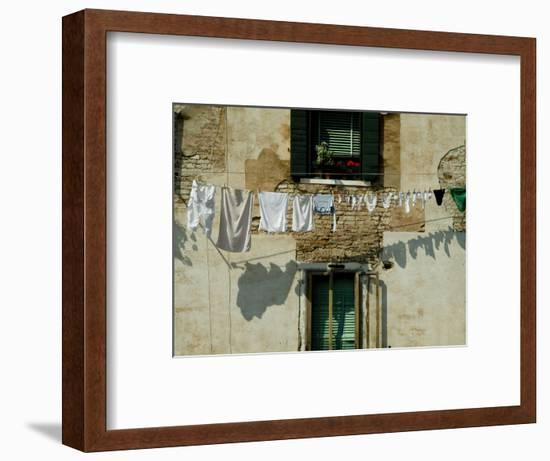 Laundry Hanging on a Line in Venice, Italy-Todd Gipstein-Framed Photographic Print