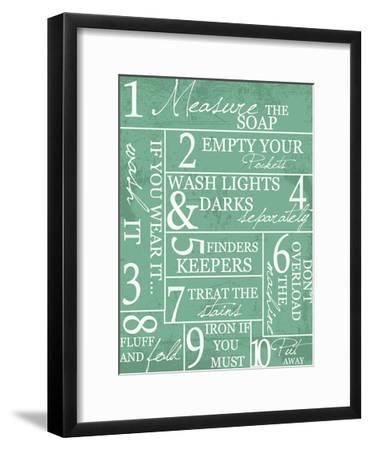 Laundry Rules-Taylor Greene-Framed Art Print