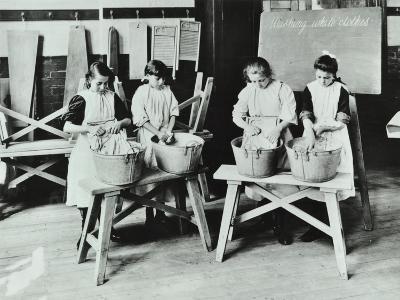 Laundry Work, Tennyson Street School, Battersea, London, 1907--Photographic Print