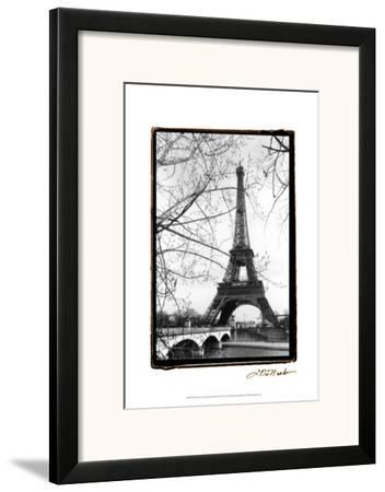Eiffel Tower Along the Seine River by Laura Denardo