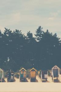 Beach Huts in England by Laura Evans