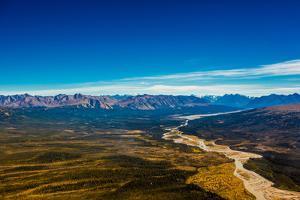 Aerial shot of Alaskan Mountain Range, Alaska, United States of America, North America by Laura Grier