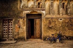 Arabic Doorway in Stone Town, UNESCO World Heritage Site, Zanzibar Island, Tanzania, East Africa by Laura Grier