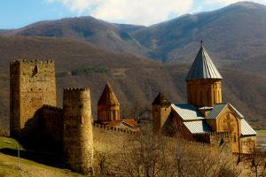 Castle in the Countryside of Tbilisi, the Republic of Georgia, Central Asia, Asia by Laura Grier