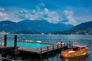 Floating Pool at Grand Hotel Tremezzo, Lake Como, Lombardy, Italy, Europe by Laura Grier