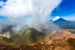 On the summit of the active Pacaya Volcano, Guatemala, Central America by Laura Grier