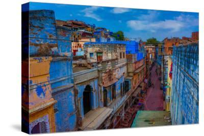 The Blue Rooftops in Jodhpur, the Blue City, Rajasthan, India, Asia