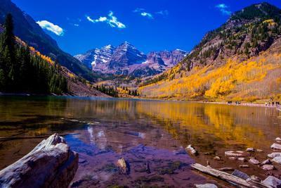 The Maroon Bells, Aspen, Colorado, United States of America, North America