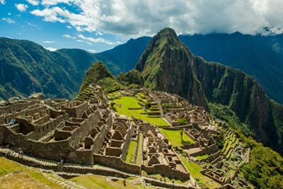View of Huayna Picchu and Machu Picchu Ruins, UNESCO World Heritage Site, Peru, South America by Laura Grier