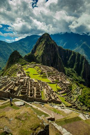 View of Machu Picchu Ruins, UNESCO World Heritage Site, Peru, South America by Laura Grier