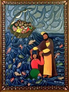 Jesus Walks on Water, 1998 by Laura James