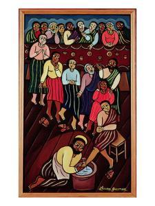 Jesus Washing the Disciples' Feet, 2000 by Laura James