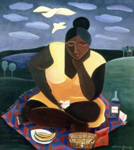 Woman Reading, 1997 by Laura James