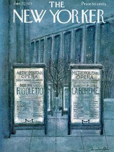 The New Yorker Cover - January 27, 1973 by Laura Jean Allen