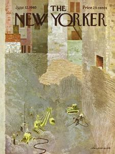 The New Yorker Cover - June 12, 1965 by Laura Jean Allen