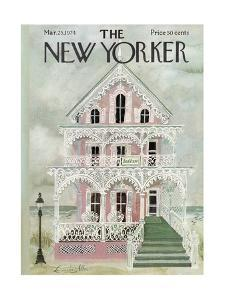 The New Yorker Cover - March 25, 1974 by Laura Jean Allen