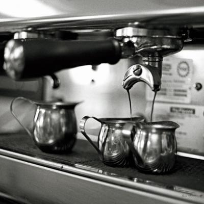 Coffeehouse II Crop by Laura Marshall