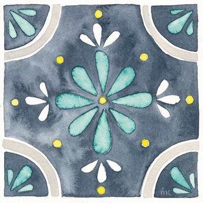 Garden Getaway Tile I Blue by Laura Marshall