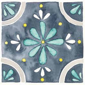 Garden Getaway Tile I Blue by Laura Marshall