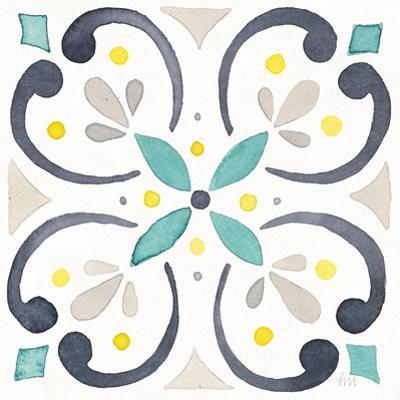 Garden Getaway Tile IV White by Laura Marshall