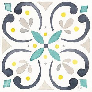 Garden Getaway Tile IV White by Laura Marshall