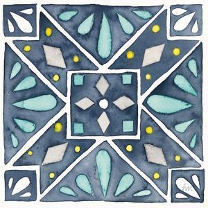 Garden Getaway Tile IX Blue by Laura Marshall
